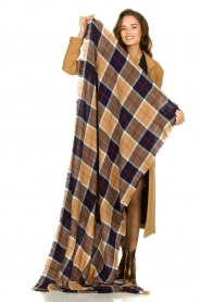 Set |  Checkered scarf Megan | black  | Picture 3
