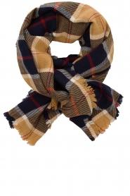 Set |  Checkered scarf Megan | black  | Picture 1