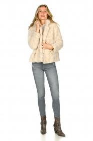 JC Sophie |  Faux fur coat Ashanti | beige  | Picture 3