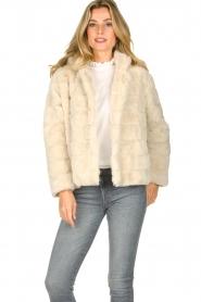 JC Sophie |  Faux fur coat Ashanti | beige  | Picture 2