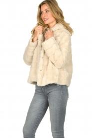 JC Sophie |  Faux fur coat Ashanti | beige  | Picture 4
