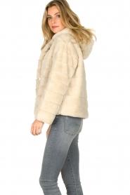 JC Sophie |  Faux fur coat Ashanti | beige  | Picture 5