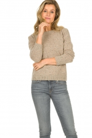JC Sophie |  Knitted sweater Anne Sophie | brown  | Picture 2