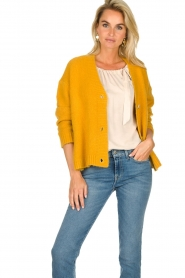 JC Sophie |  Knitted cardigan Amalia | ochre yellow  | Picture 2