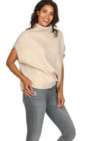JC Sophie |  Oversized turtleneck sweater Amber | beige  | Picture 4