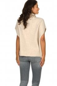 JC Sophie |  Oversized turtleneck sweater Amber | beige  | Picture 5