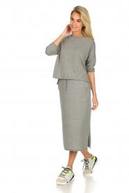 JC Sophie |  Midi skirt Annefleur | grey  | Picture 3
