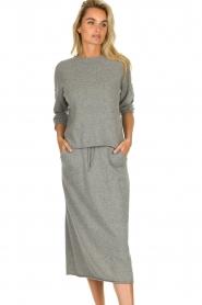 JC Sophie |  Midi skirt Annefleur | grey  | Picture 4