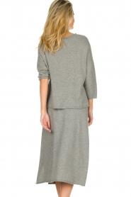 JC Sophie |  Midi skirt Annefleur | grey  | Picture 5
