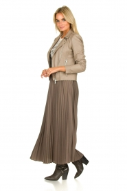 JC Sophie |  Plisse maxi skirt Aminna | grey  | Picture 3