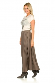 JC Sophie |  Plisse maxi skirt Aminna | grey  | Picture 4