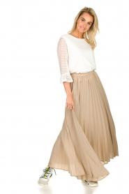 JC Sophie |  Plisse maxi skirt Aminna | beige  | Picture 2