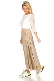 JC Sophie |  Plisse maxi skirt Aminna | beige  | Picture 3
