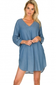 JC Sophie |  Denim tunic dress Alfreda | blue  | Picture 5