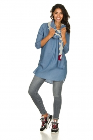 JC Sophie |  Denim tunic dress Alfreda | blue  | Picture 3