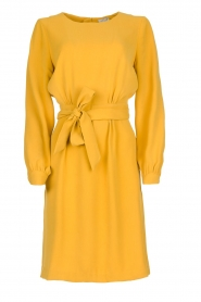 JC Sophie |  Dress with waistbelt Aruba | yellow  | Picture 1