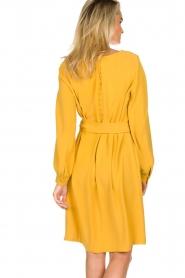 JC Sophie |  Dress with waistbelt Aruba | yellow  | Picture 6