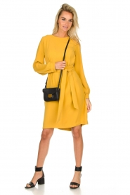 JC Sophie |  Dress with waistbelt Aruba | yellow  | Picture 3