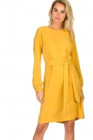 JC Sophie |  Dress with waistbelt Aruba | yellow  | Picture 4