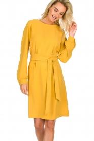 JC Sophie |  Dress with waistbelt Aruba | yellow  | Picture 2