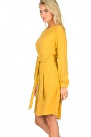 JC Sophie |  Dress with waistbelt Aruba | yellow  | Picture 5