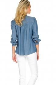 JC Sophie |  Denim blouse Alexia | blue  | Picture 6