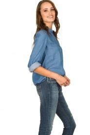 JC Sophie |  Denim blouse Alexia | blue  | Picture 4