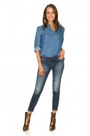 JC Sophie |  Denim blouse Alexia | blue  | Picture 3