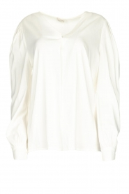 JC Sophie |  Blouse with playfully buttoned cuffs Aukje | white  | Picture 1