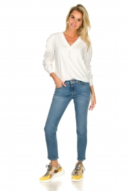 JC Sophie |  Blouse with playfully buttoned cuffs Aukje | white  | Picture 3