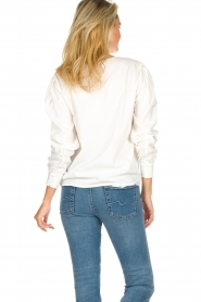 JC Sophie |  Blouse with playfully buttoned cuffs Aukje | white  | Picture 5