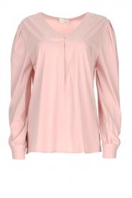 JC Sophie |  Blouse with playfully buttoned cuffs Aukje | pink  | Picture 1
