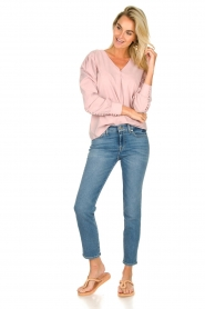 JC Sophie |  Blouse with playfully buttoned cuffs Aukje | pink  | Picture 3