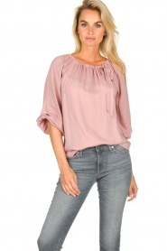 JC Sophie |  Off-shoulder top Atlanta | pink  | Picture 2