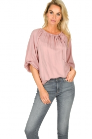 JC Sophie |  Off-shoulder top Atlanta | pink  | Picture 4
