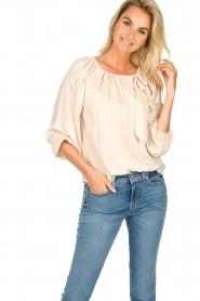 JC Sophie |  Off-shoulder top Atlanta | beige  | Picture 2