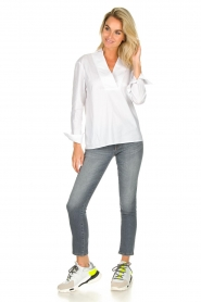 JC Sophie |  Stretch blouse Avery | white  | Picture 3