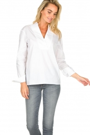 JC Sophie |  Stretch blouse Avery | white  | Picture 4