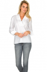 JC Sophie |  Stretch blouse Avery | white  | Picture 2