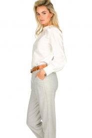 JC Sophie |  Blouse with ruffles Alison | white  | Picture 5
