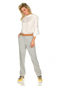 JC Sophie |  Blouse with ruffles Alison | white  | Picture 3