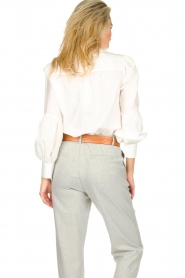 JC Sophie |  Blouse with ruffles Alison | white  | Picture 6