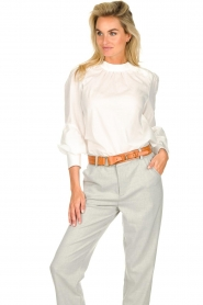 JC Sophie |  Blouse with ruffles Alison | white  | Picture 4