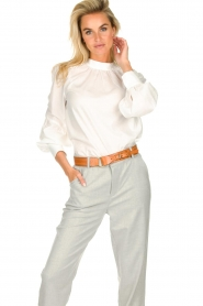 JC Sophie |  Blouse with ruffles Alison | white  | Picture 2