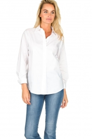JC Sophie |  Classic stretch blouse Alice | white  | Picture 2