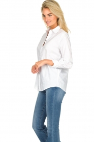 JC Sophie |  Classic stretch blouse Alice | white  | Picture 5