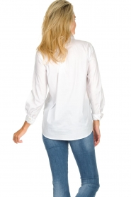 JC Sophie |  Classic stretch blouse Alice | white  | Picture 6