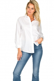 JC Sophie |  Classic stretch blouse Alice | white  | Picture 4