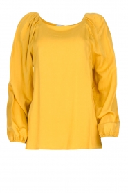 JC Sophie |  Blouse with pleat details Ava | ochre  | Picture 1