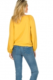 JC Sophie |  Blouse with pleat details Ava | ochre  | Picture 7